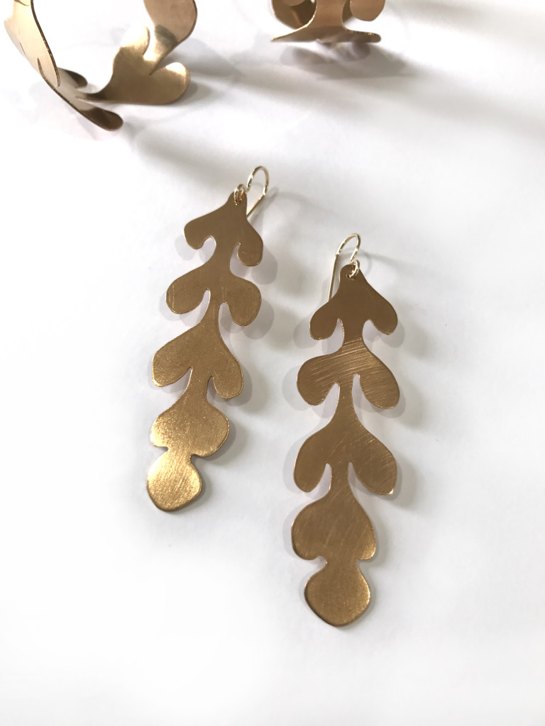 Matisse cut-out inspired statement earrings