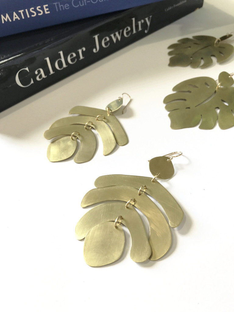 statement earrings inspired by Calder jewelry and Matisse paper cut-outs