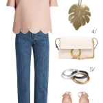 spring into summer outfit inspiration: blush and denim