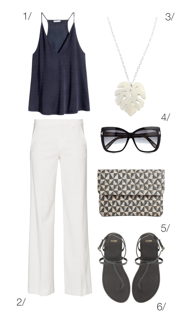 chic summer style: white pants for a classic picnic outfit // click through for outfit details