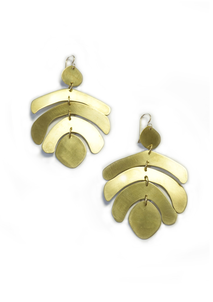 Mocal statement earrings by Megan Auman