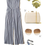 summer style: jumpsuit and statement earrings