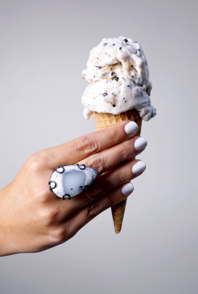 happy national ice cream day // click through for details on this one of a kind statement ring by megan auman