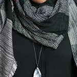 three ways to wear a necklace with a scarf