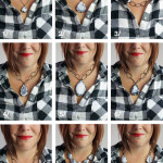 one neckline, nine different necklaces: what necklace to wear with a flannel button down shirt