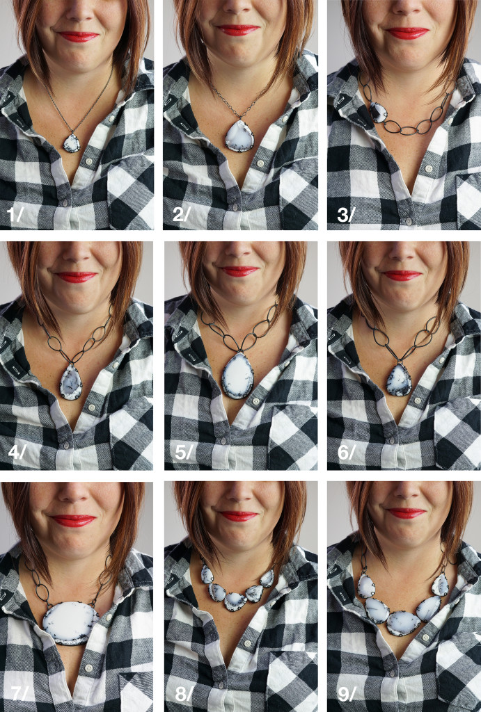 necklace with neckline style guide: what necklace to wear with a flannel plaid button down shirt