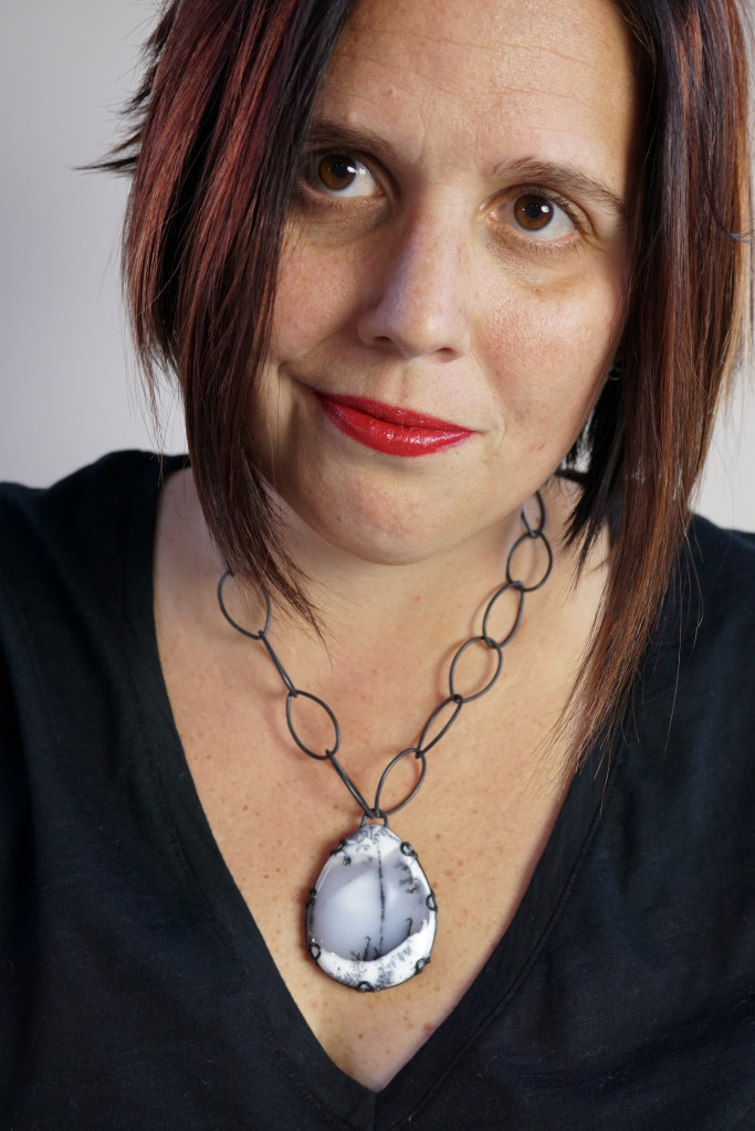 jewelry style blog: bold necklace portrait
