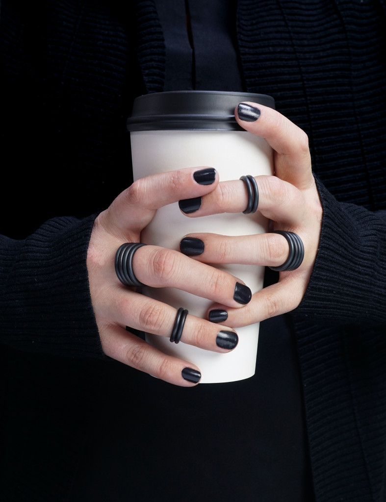 chunky black stacking rings: best selling jewelry 2017