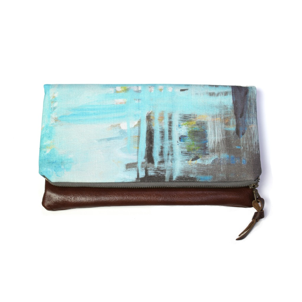 030325a454fb ... remnant - painterly foldover clutch by eclu and megan auman