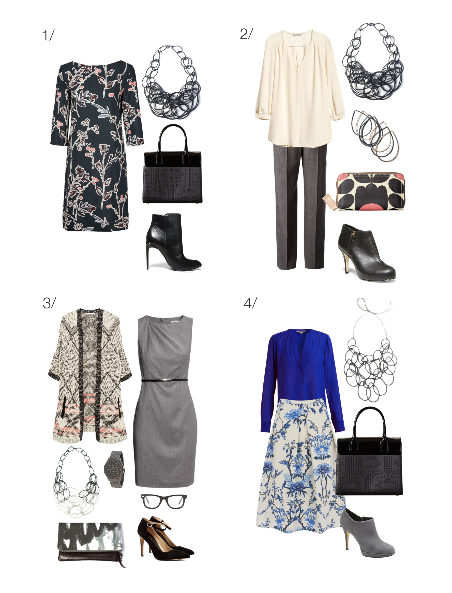 8 outfit ideas for wearing a statement necklace to work ...