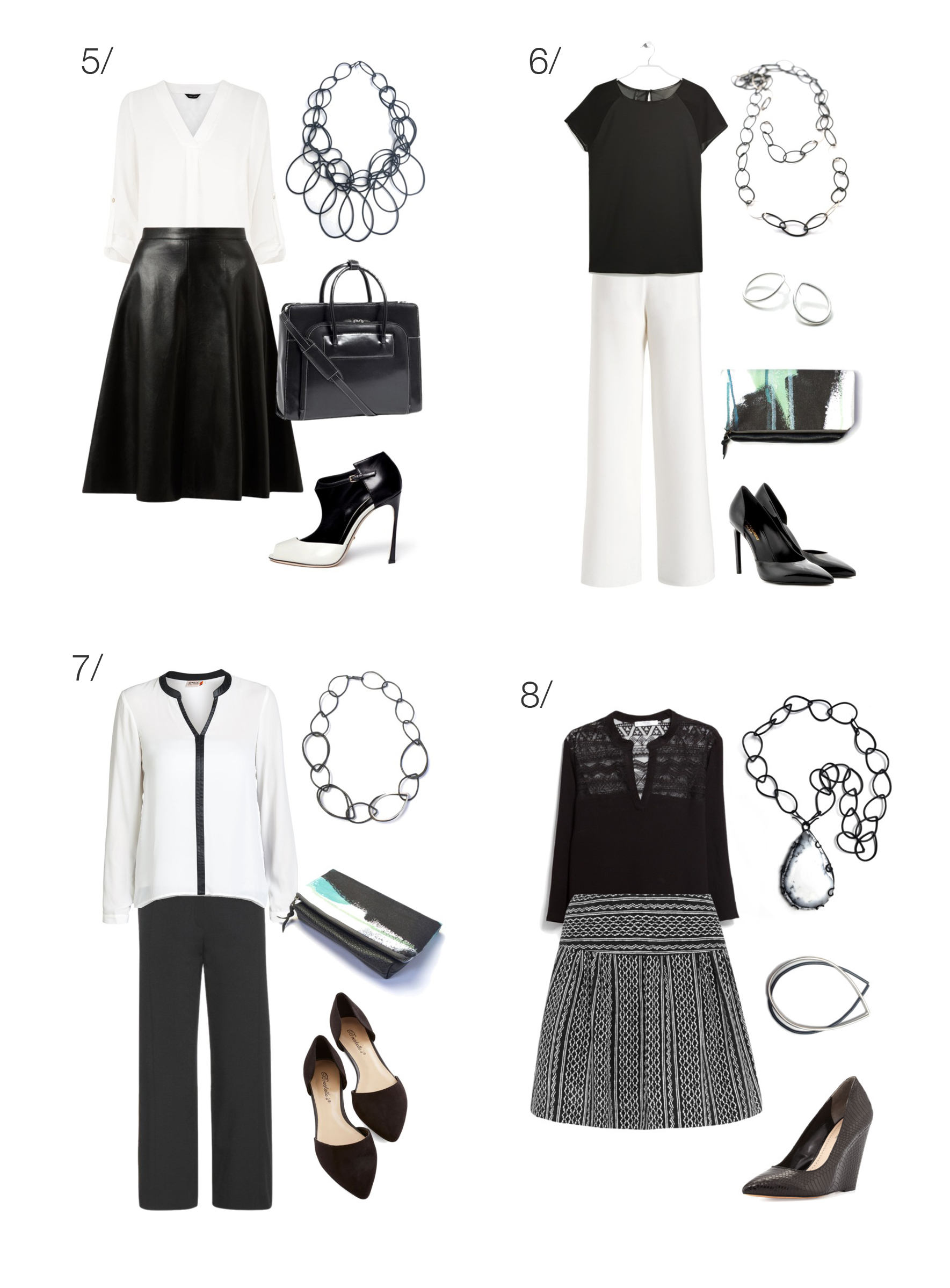 half off factory outlet official photos 8 chic and stylish ways to wear black and white to work - MEGAN AUMAN