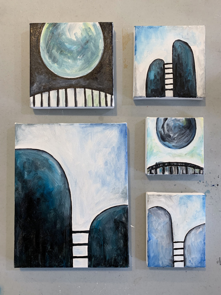 small modern abstract paintings by megan auman