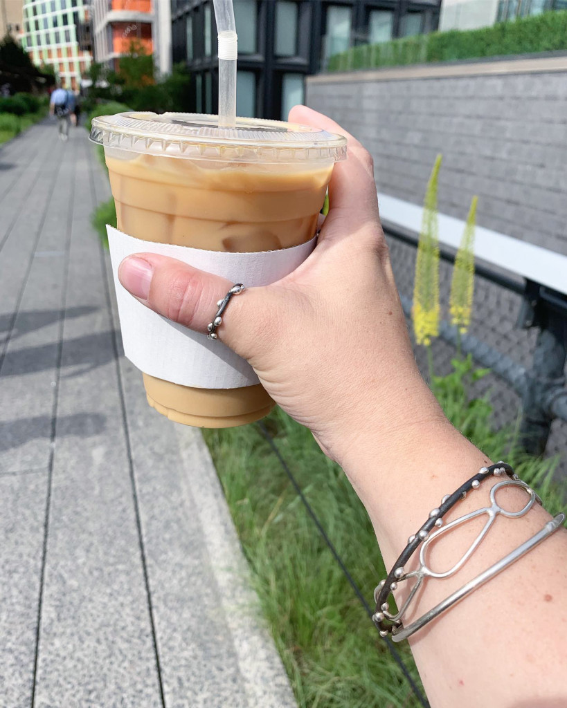 latte and jewelry - bracelet stack and thumb ring