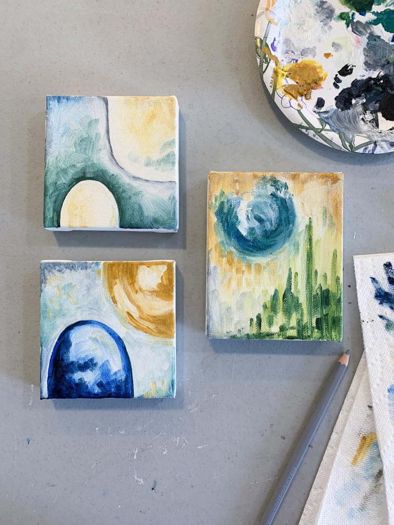 tiny oil paintings - abstracted landscapes