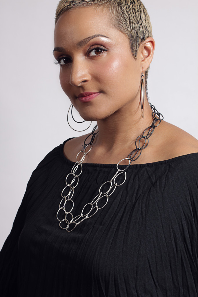 statement earrings and chunky chain necklace