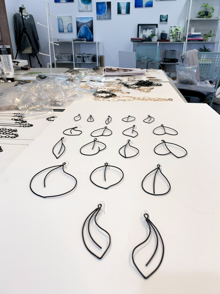 new statement earring designs in the studio of megan auman